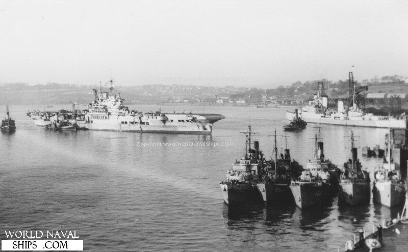 HMS Victorious, November 1945  - Battleships - Cruisers  co uk