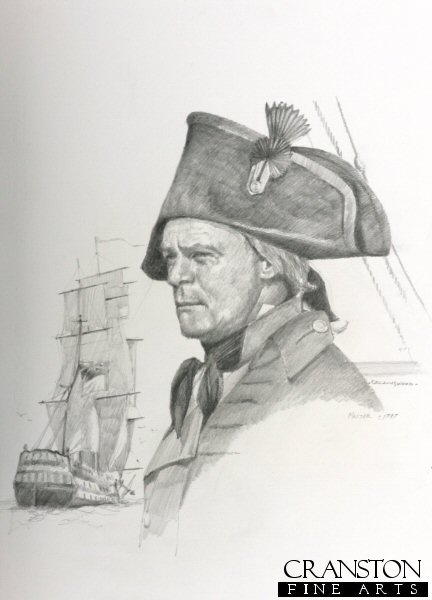 CCP32P.  Master of a Royal Naval Frigate c.1797 by Chris Collingwood.