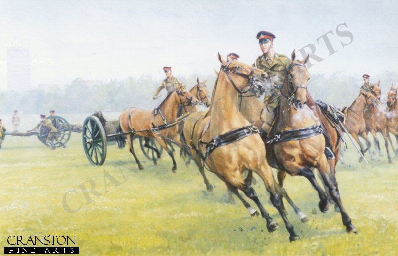 DHM0270P. Unhooked, Kings Troop R.H.A Number 2, by Mark Churms.