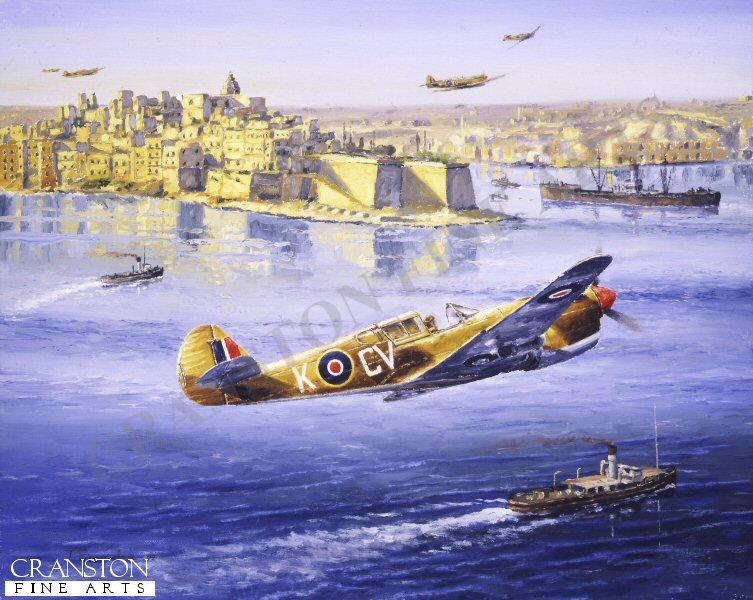 P40 Kittyhawks of No.3 Squadron RAAF based at Ta Qali Airfield, Malta.
