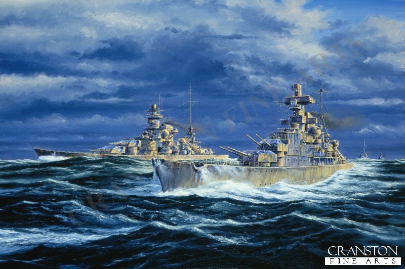 The Last of the heavy Cruisers built by Germany (5 in total) The picture shows Admiral Hipper making her first sortie on the 18th February 1940, accompanied by the Scharnhorst and the Gneisenau on Operation Nordmark. (Search for allied convoys on the route between Britain and Norway)