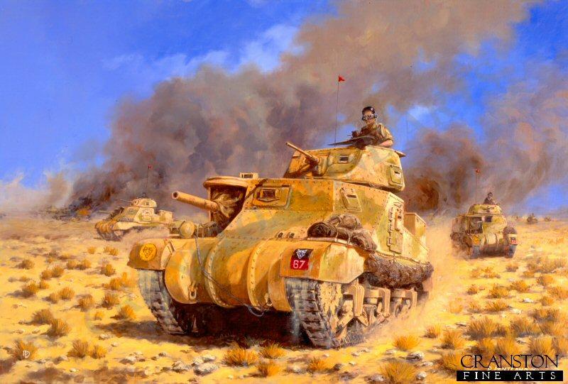 Lee Grant Tank art prints world war two tank by David Pentland