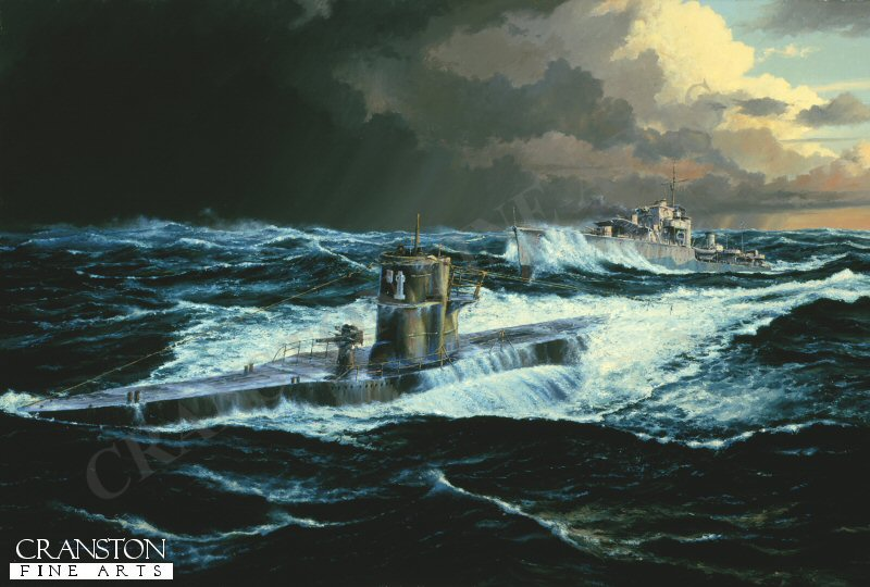17th February 1943, U-201 with U-69 were ordered to intercept the westbound convoy ONS165. With fuel low U-201 was eventually forced to surface following a depth charge attack and rammed by the Destroyer HMS Fame.
