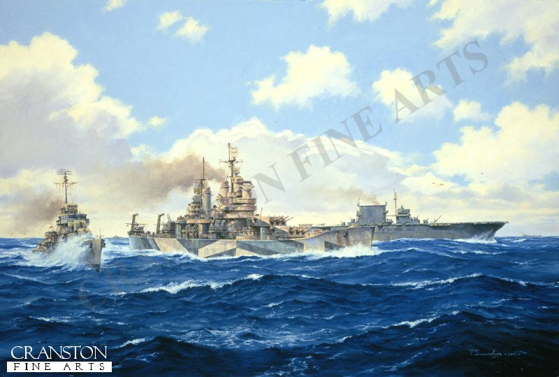 In February 1944, USS Baltimore and Saratoga make up part of the formidable Task Force 58, forcing their way through the central pacific to attack the Japanese bases in the Marshal Islands in support of Operation Flintlock.