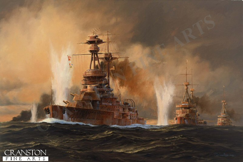 The British Grand Fleet had been virtually unopposed for nearly a century but now there was a challenge to the throne: the German Navy. Although smaller, it had caught up fast and by the time of Jutland, had some telling advantages over the British Fleet. the plan for the battle was to lure the British Grand Fleet into a lethal trap in German waters. In the event although desperately fought by both sides, the battle was a stale mate. the confused conflict was hampered on both sides by bad luck, bad weather and poor communications. at the end of the battle, the Royal navy had suffered higher losses in men and ships, but the German fleet never ventured out of harbour to seek battle again.