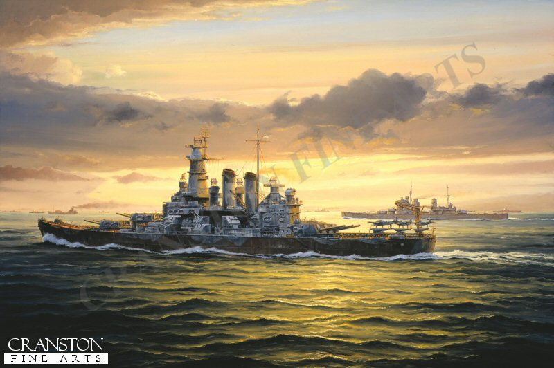 In the spring of 1942, USS Washington was the first of Americas fast battleship fleet to participate in combat operations when she was briefly assigned to the Royal Navy. On 28th June 1942, together with HMS Duke of York, HMS Victorious and an accompanying cruiser and destroyer force, she formed part of the distant covering force to convoy PQ17, bound for Russia. In the Pacific later that same year, she became the only modern US battleship to engage an enemy capital ship, sinking the Japanese battlecruiser Kirishima.
