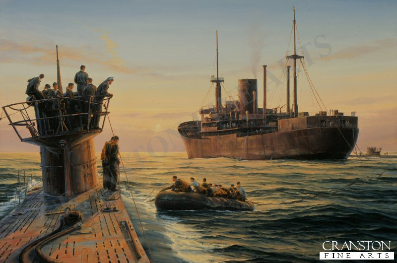 Germanys U-boat fleet had almost brought Britain to its knees in the First World war, twenty years later the story was very similar. the German U-boat arm came perilously close to cutting the lifeline that crossed the Atlantic between North America and Britain. in the early years of the war Donitz realised that keeping his U-boats at sea for as long as possible would greatly increase their chances of success. here U-93 (left) and U-94 take fuel from the auxiliary cruiser Kormoran whilst in the mid-Atlantic during 1941