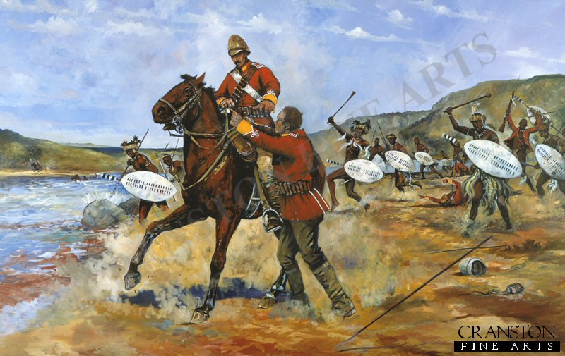 Private Wassall, whilst escaping the debacle of Isandhlwana, was being pursued by Zulu warriors as he made his way down the Buffalo River, the border between Zululand and Natal. Wassall rode his Basuto pony into the river, but upon hearing a cry for help and seeing a man from his own regiment drowning, he turned and made his way back to the Zulu side of the river, Quickly dismounting he tied his horse to a tress, swam into the river and rescued a private called Westwood as the Zulus were sweeping along the riverbank just at the moment the Zulus rushed forward. For his act of valour in the face of the enemy Private Samuel Wassall was awarded the first of the Zulu War Victoria Crosses. <br><br><b>Near perfect condition -  may have some slight marks on the border only. </b><br>
