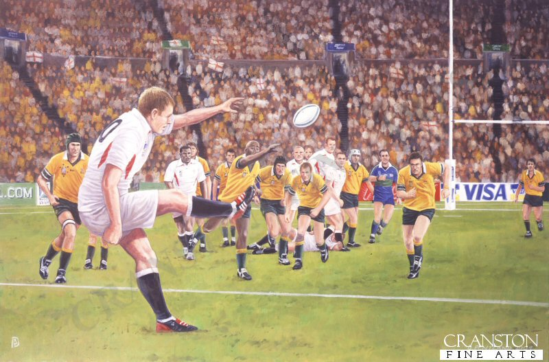 In the final moments of extra time of the game, the England number 10, Jonny Wilkinson slotted a perfect drop goal which clinched victory over Australia, winning 20 points to 17.