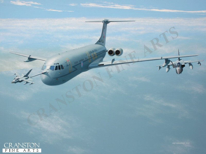 Celebrating its 50th year of faithful service in 2012, the Vickers VC10 has proved to be one of the most enduring types in British aviation.  The final role for these elegant veterans has been to provide mid-air refueling for the RAF, as typified here by C.1K XV106 'W' of 101 Sqn, Brize Norton.  Retirement is planned for March 2013 for the final few serving aircraft, closing a significant chapter in the history of jet age.