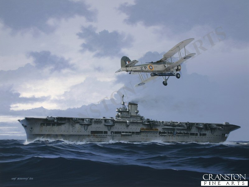 Legendary during her brief wartime career, Ark Royal heralded a new era in aircraft carrier design, possessing tremendous hull rigidity and a formidable array of defensive armament. Apart from her key role in Force H in the Mediterranean and the North Atlantic, Ark Royal also took part in operations off Norway in company with HMS Glorious.  It was one of her Blackburn Skuas that claimed the first aerial victory of WWII against a German aircraft on 26th September 1939 and one of her Fairey Swordfish that crippled the mighty Bismarck, leading to the German capital ship&#39;s destruction at the hands of the Royal Navy.  On 13th November 1941, Ark Royal was torpedoed by U-81 off Gibraltar, her severe list causing flooding to choke her boilers, bringing her to a standstill.  Her crew were taken off and the mighty <i>Ark</i> continued to list until she eventually capsized and sank.