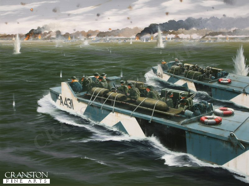 Typical of the many hundreds of craft that took part in the 6th June 1944 landings at Normandy at the opening of Operation Overlord, these unarmed Royal Navy Landing Craft (LCAs) bravely transported many thousands of British and Canadian infantry to the beaches under the most intense fire.