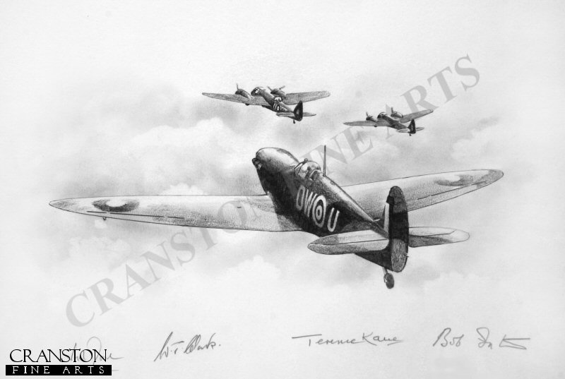 Spitfire DW-U (W3455) of 610 Squadron escorting Blenheims to Le Trait on 21st August 1941.  This aircraft was shot down by enemy fighters on this mission.