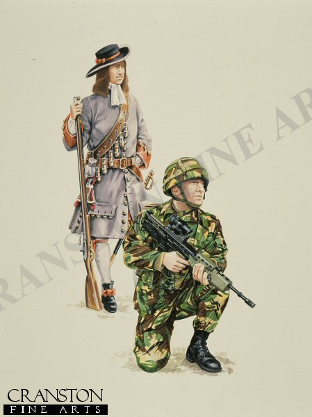 From Tiffins Regiment of Foot 1689, to present day Royal Irish Regiment Infantryman. <br><br><b>TWO PRINTS ONLY IN THIS SPECIAL PROMOTION</b><br>
