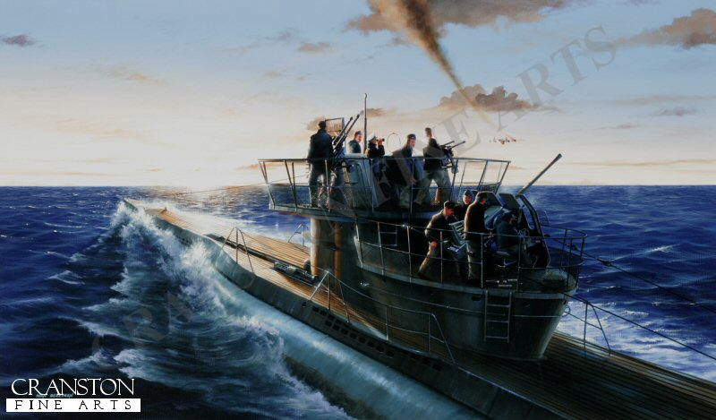 This limited edition print depicts the Type VIIC U-Boat U269 during an engagement in the English Channel with a B24 Liberator from 224 Squadron based at St Eval in Cornwall. <br><br><b>TWO PRINTS ONLY IN THIS SPECIAL NEWSLETTER PROMOTION.</b> <br>