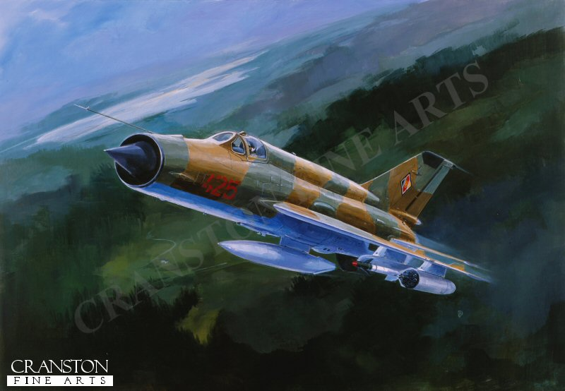 Mig21MF, East German Airforce. Such aircraft were the mainstay of the Warsaw Pact forces from the 1960s through to the 1980s.
