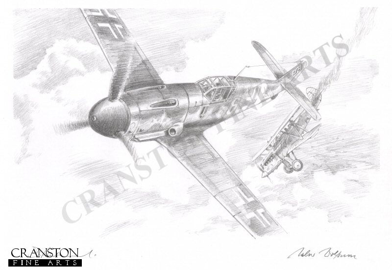 Leutnant Walter <i>Count Punski</i> Krupinski of 4 Staffel, JG52 downs a Soviet R5 biplane on 25th September 1942.  By the end of the day, 4 enemy aircraft would fall prey to his guns.  One month later he received the Ritterkreutz having claimed 56 victories.