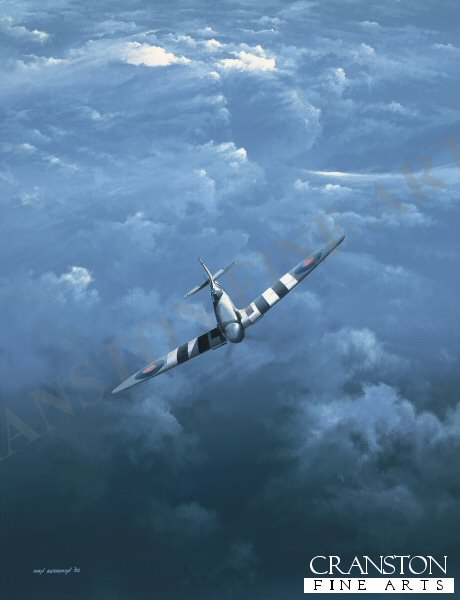 A Photo Reconnaissance Spitfire returning from a mission over occupied France.