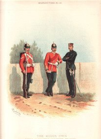 Kings Own Royal Lancaster Regiment (4th Foot) by Richard Simkin.