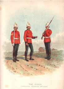 Kings Liverpool Regiment (8th foot) by Richard Simkin (P)