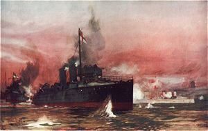 The Fame in the Attack on Taku by Charles Dixon.