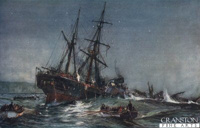 The Wreck of the Birkenhead 1852 by Charles Dixon. (B)