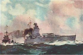 HMS Nelson by Frank Mason.