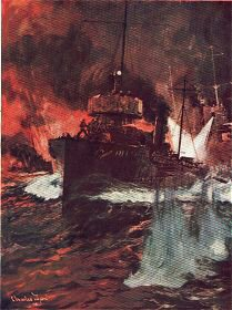 A Night Attack - Torpedo Boats at Work by Charles Dixon.
