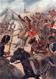 The Duke of Marlborough at the Battle of Ramillies, May 23rd 1706 by B Granville Baker.