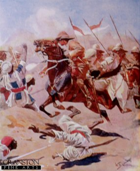 Charge of the 21st Lancers at Omdurman by William Barnes Wollen.
