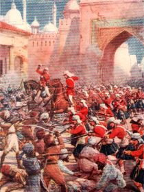 Sir Henry Havelock at the Relief of Lucknow by Howard Davie (P)
