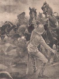We tried hard to save the rest of the guns, possibly by Richard Caton Woodville