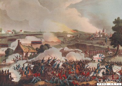 The Centre of the British Army in Action at the Battle of Waterloo, June 18 1815 by T Sutherland after W Heath. (ZB)