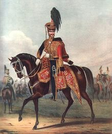 Officer of the 10th (Prince of Wales Own) Royal Regiment of Hussars by L Mansion & L Eschauzier (P)