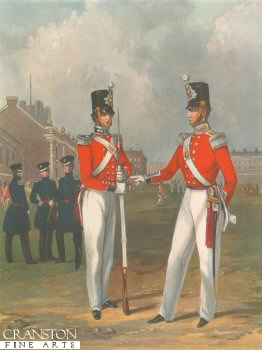 The Hon. Artillery Company Officer and Private by J Harris after H Martens 1848