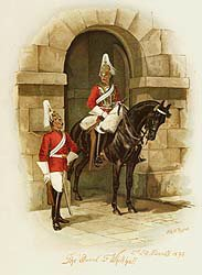 The Guard at Whitehall - 2nd Life Guards 1890 by Harry Payne and Arthur Payne (P)