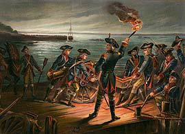 US Army Artillery Retreat from Long Island 1776 by Werner (P)