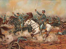 US Army Cavalry Charge of the 5th Regulars, Gains Mill 1862 by Werner (P)