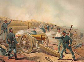 US Army Siege and Barbette Guns, Fort Haskell 1865 by Werner (P)