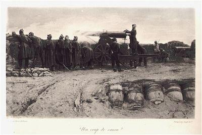 Un coup de cannon by E Berne-Bellecour (P)