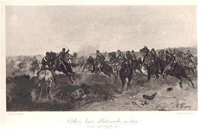 Artillerie legere allant prendre position - Armee sous Metz (1870) by Henry Dupray (P)