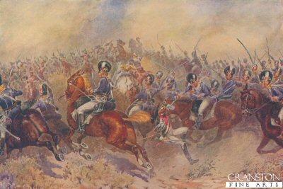 The 12th Light Dragoons at Salamanca, July 22nd 1812 by B Granville Baker