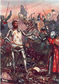 The Surrender of John I of France at the Battle of Poitiers, September 19th 1356 by John Cameron.
