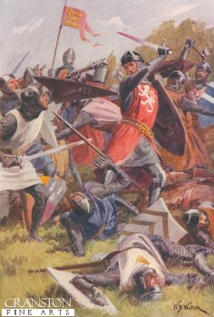 The Battle of Evesham, August 4th 1265 by William Barnes Wollen.