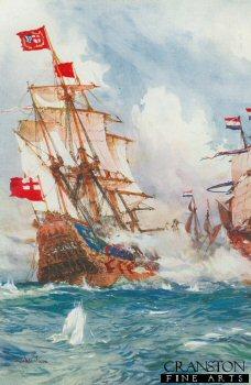 When Blake Swept the Seas: A Battle Between Admiral Blake and Van Tromp by Charles Dixon.