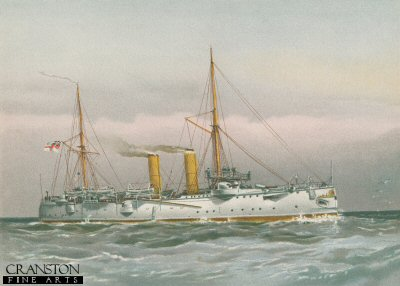 HMS Magicienne by W Fred Mitchell (P)