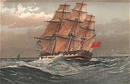 A 38 Gun Frigate About 1770 by W Fred Mitchell (P)