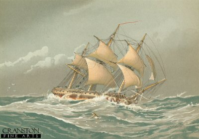 A 28 Gun Frigate About 1794 by W Fred Mitchell (P)