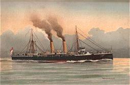HMS Latona by W Fred Mitchell (P)