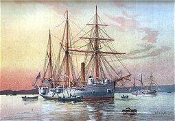 HMS Bramble by W Fred Mitchell (P)
